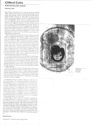 Article Terra canto rubicon gallery 1993