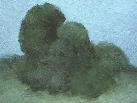 Shrubs. mixed media on canvas board. 2011