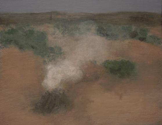 Small fires 6. Spain 2012. 35x45cm. acrylic on canvas